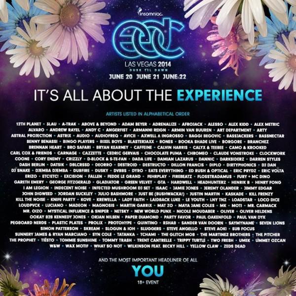 edc lineup 2014