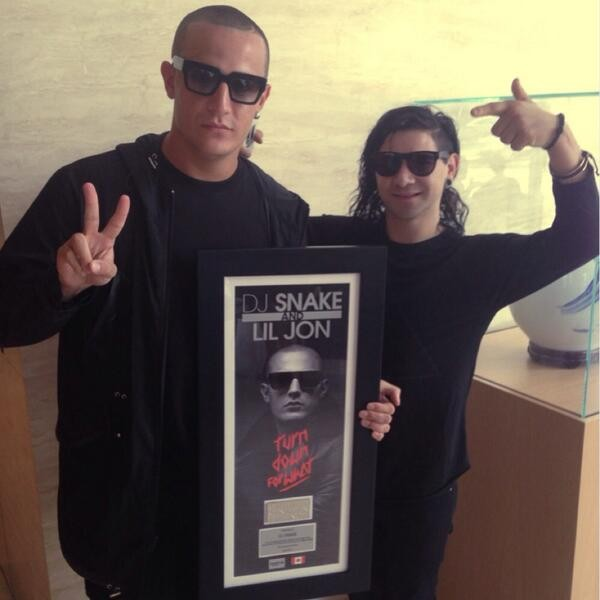 dj snake and lil jon go platinum in canada for turn down for what