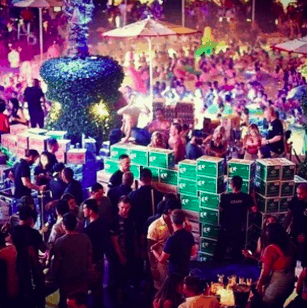 This Guy Spends $80K To Build Wall of Beer Around His VIP Table in Vegas