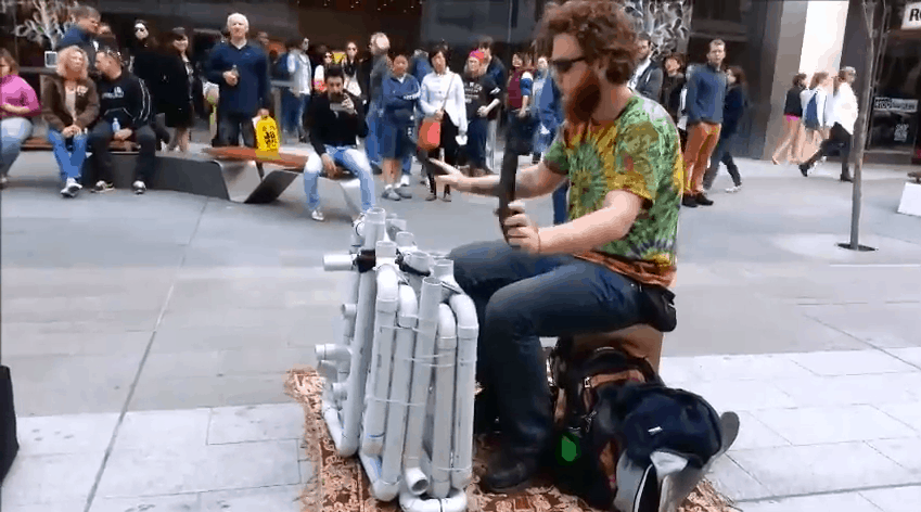 This Guy Plays EDM Songs Using Only PVC Pipes and Flip Flops