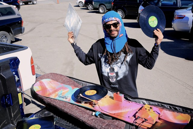 These Guys Installed Turntables On a Snowboard