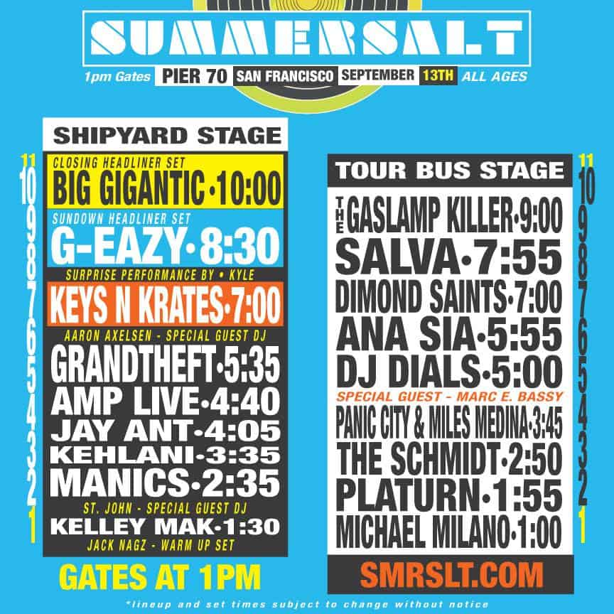 Summersalt day schedule