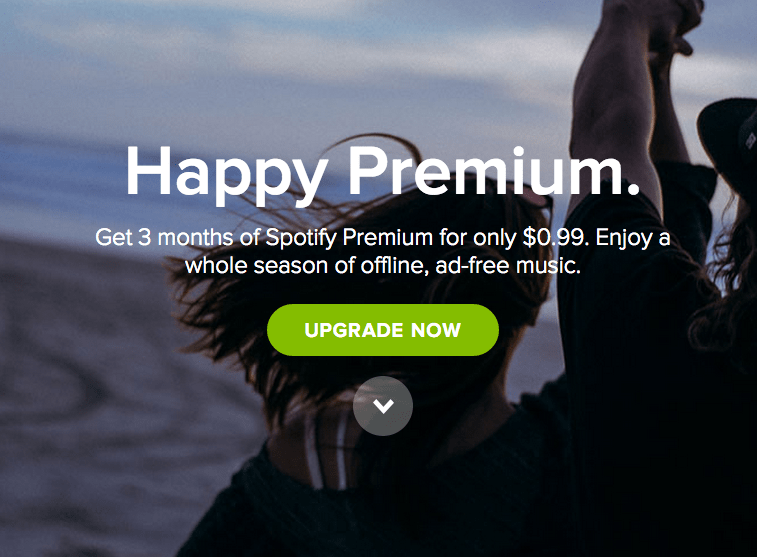 Get 3 Months of Spotify Premium for $0.99