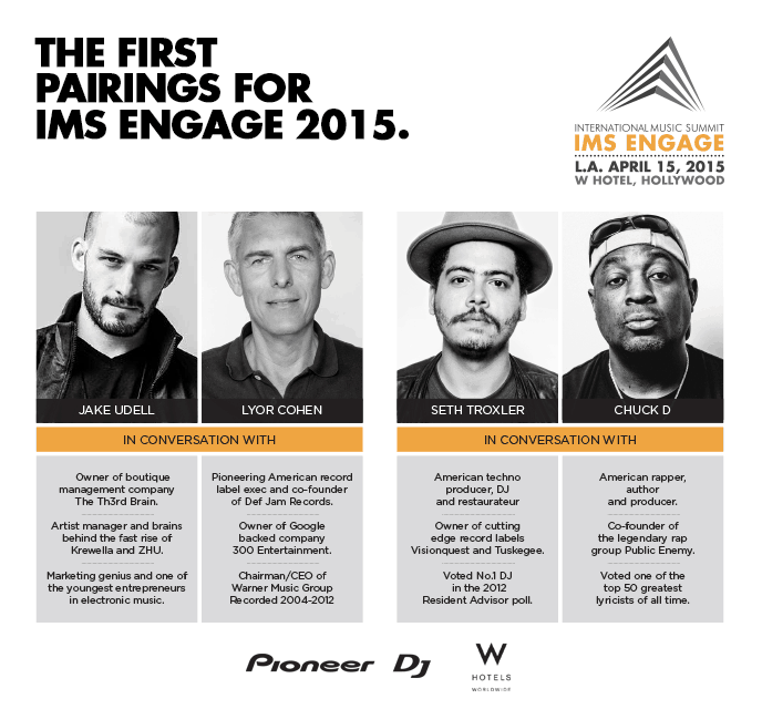 IMS Announces The First Pairings for IMS Engage 2015