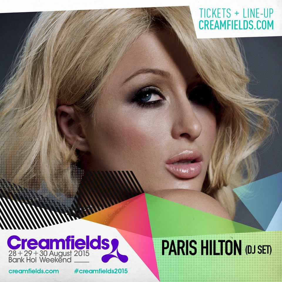 Creamfields Paris Hilton