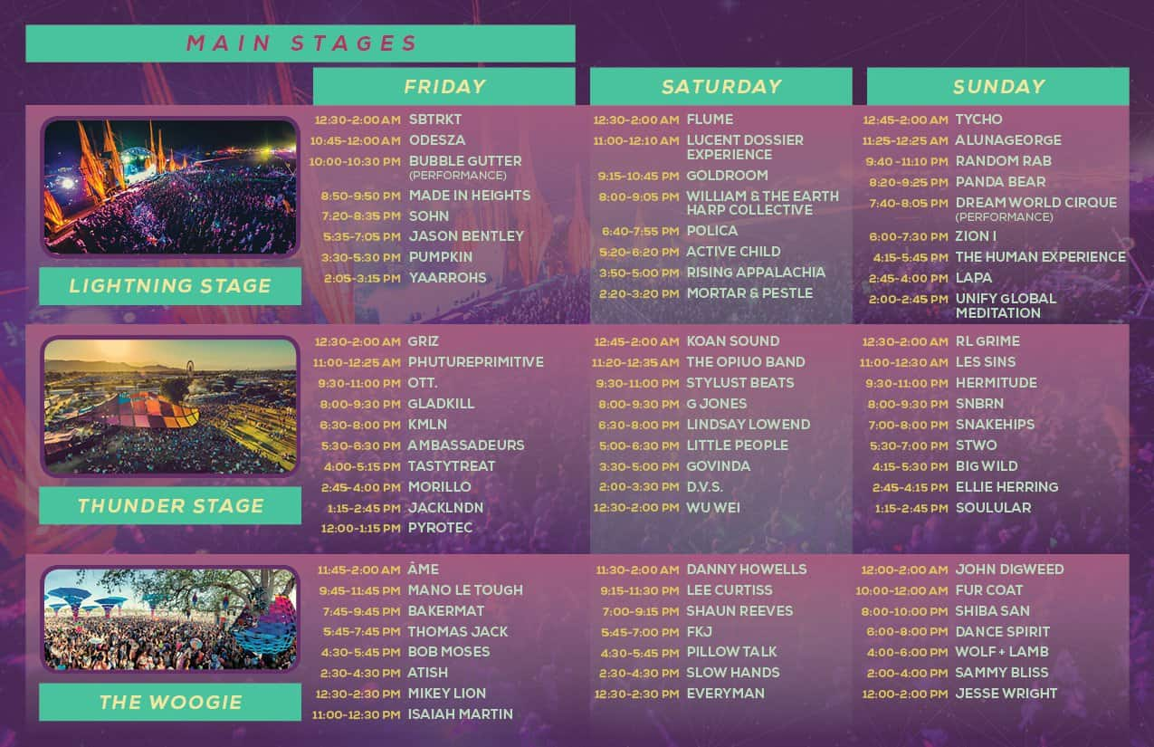 Lightning in a bottle 2015 set times