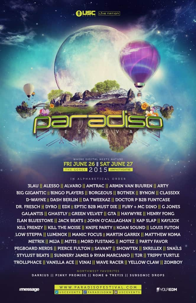 Paradiso Lineup 2015