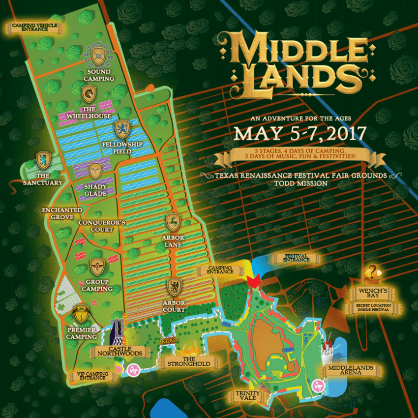 Middlelands Reveals Daily Lineup And Festival Map And We