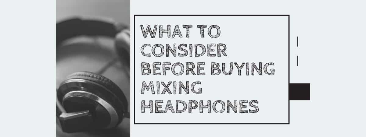 mixing headphones