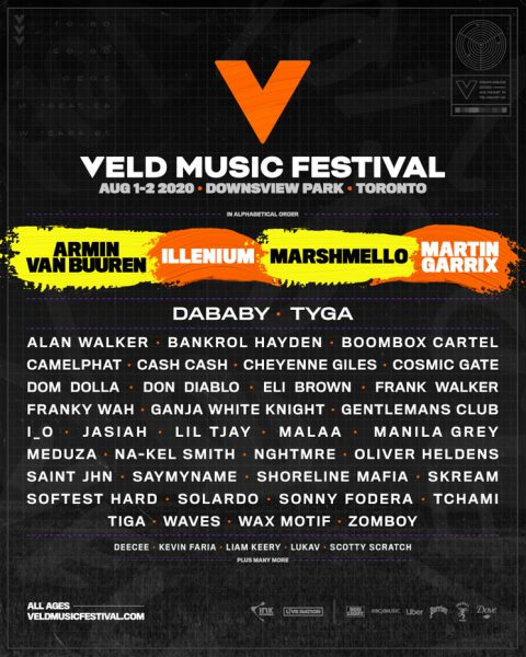 Veld Phase 1 2020 Lineup