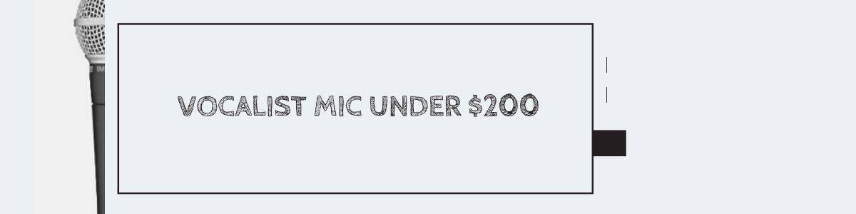 Vocalist Mic Under $200